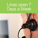 Telephone Lines Open 7 Days a Week