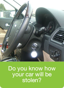 There are numerous ways your car could be stolen - keys left in the ignition