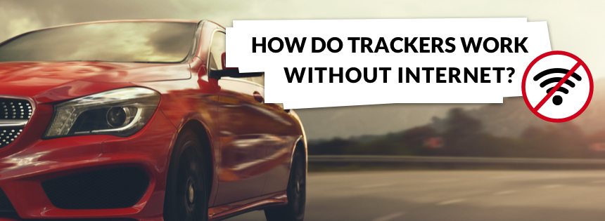 How do trackers work without internet