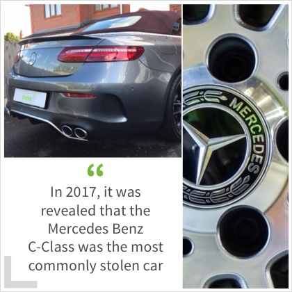 In 2017, it was revealed that the Mercedes Benz C-Class was the most commonly stolen car