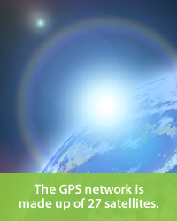 The GPS network is made up of 27 satellites