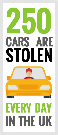 250 Cars Stolen Every Day