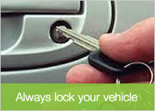 Always lock your vehicle