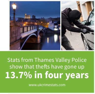 Vehicle crime in Berkshire is on the increase