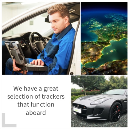We have a great selection of trackers that function aboard