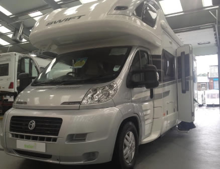 Swift Motorhome in garage