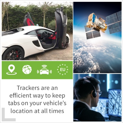 Trackers are an efficient way to keep tabs on your vehicle's location at all times