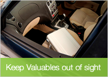 Keep Valuables Out of Sight