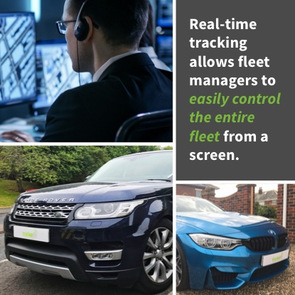Real-time tracking allows fleet managers to easily control the entire fleet from a screen.