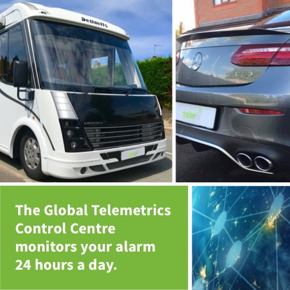 The global telemetrics control centre monitors your alarm 24 hours a day