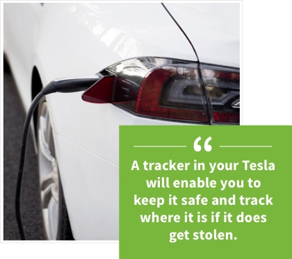 Tesla car trackers